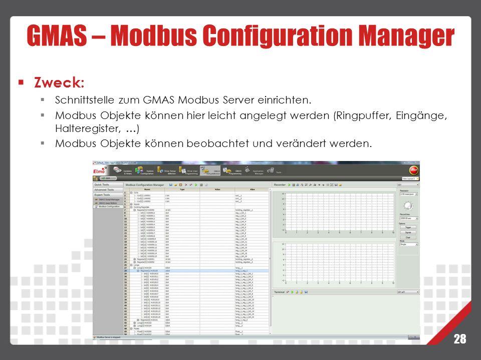 GMAS – Modbus Configuration Manager