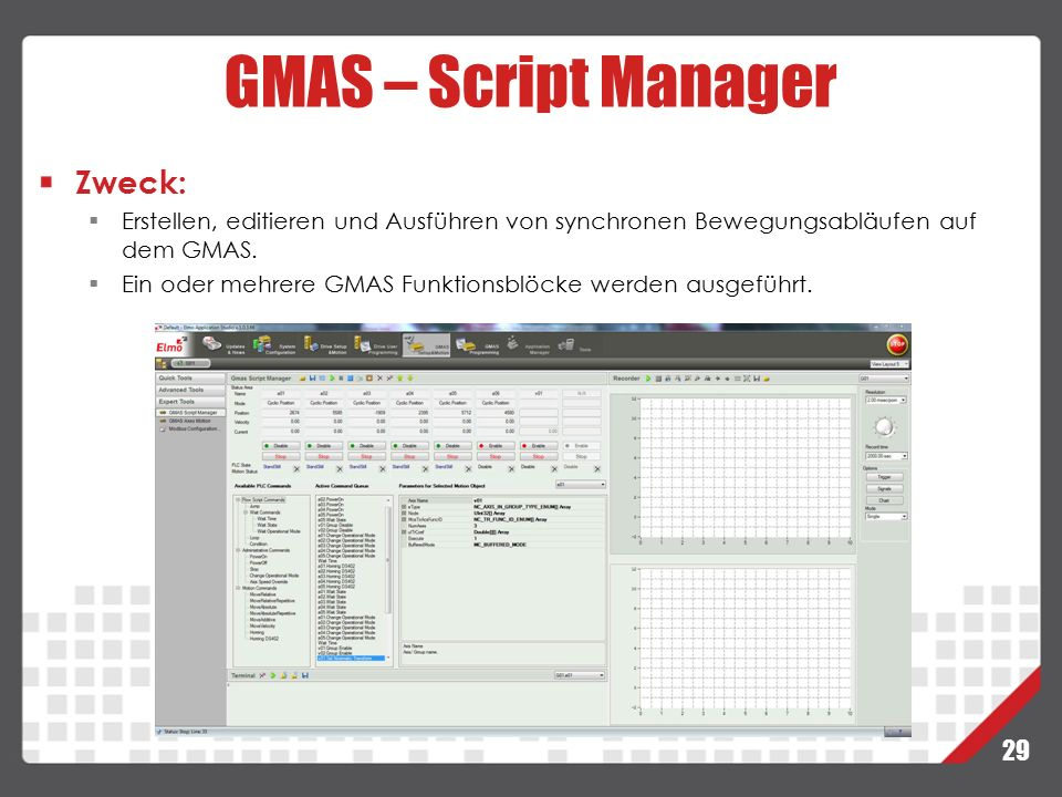 GMAS – Script Manager Zweck: