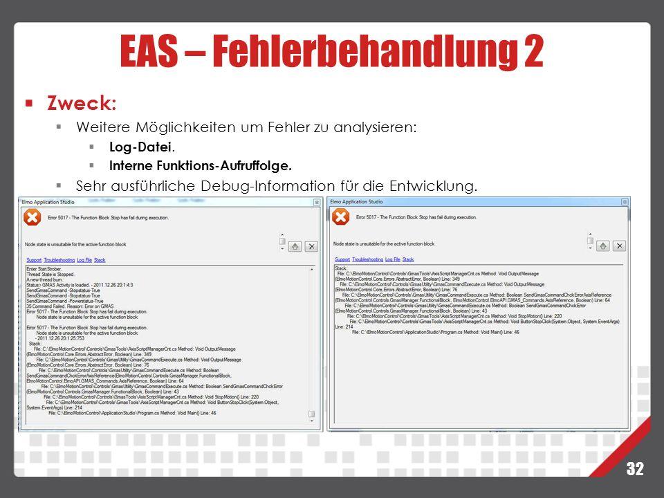 EAS – Fehlerbehandlung 2