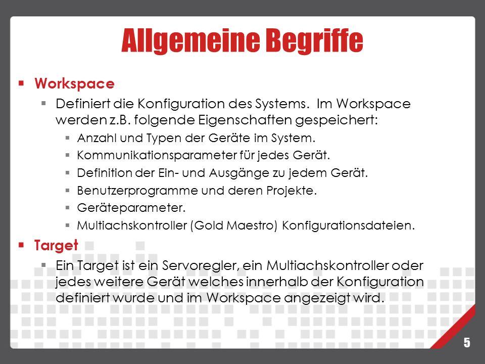 Allgemeine Begriffe Workspace Target