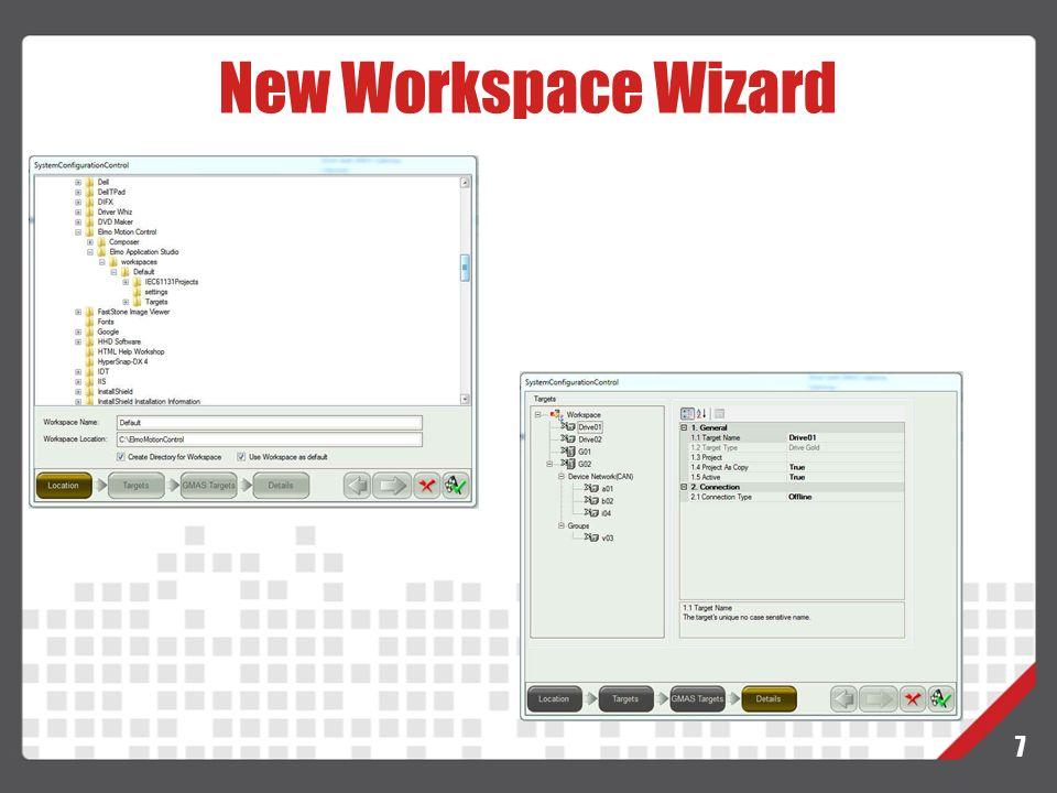 New Workspace Wizard