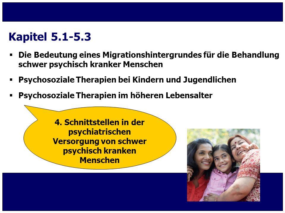 Kapitel 5.1-5.3 Die Bedeutung eines Migrationshintergrundes für die Behandlung schwer psychisch kranker Menschen.