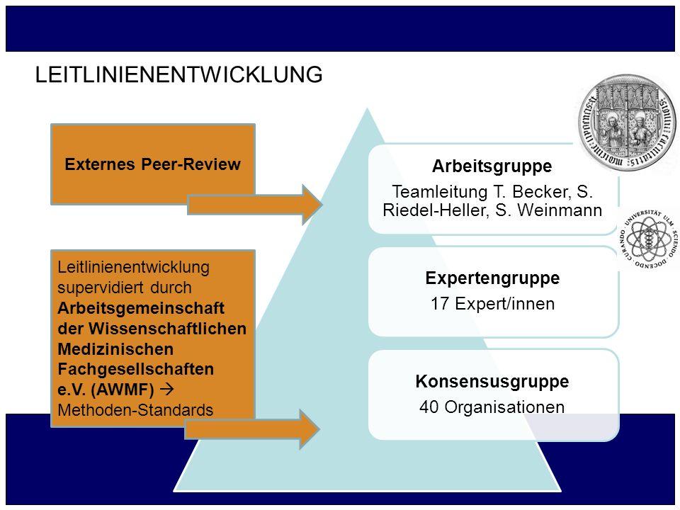 Teamleitung T. Becker, S. Riedel-Heller, S. Weinmann