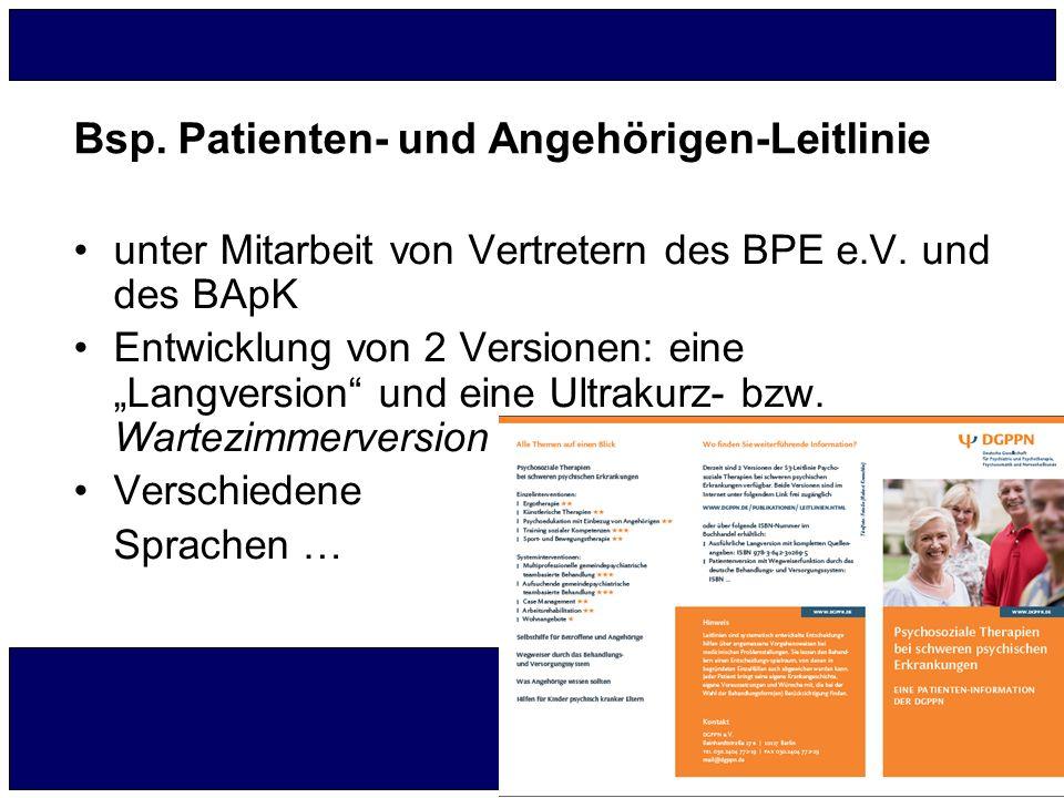 Bsp. Patienten- und Angehörigen-Leitlinie