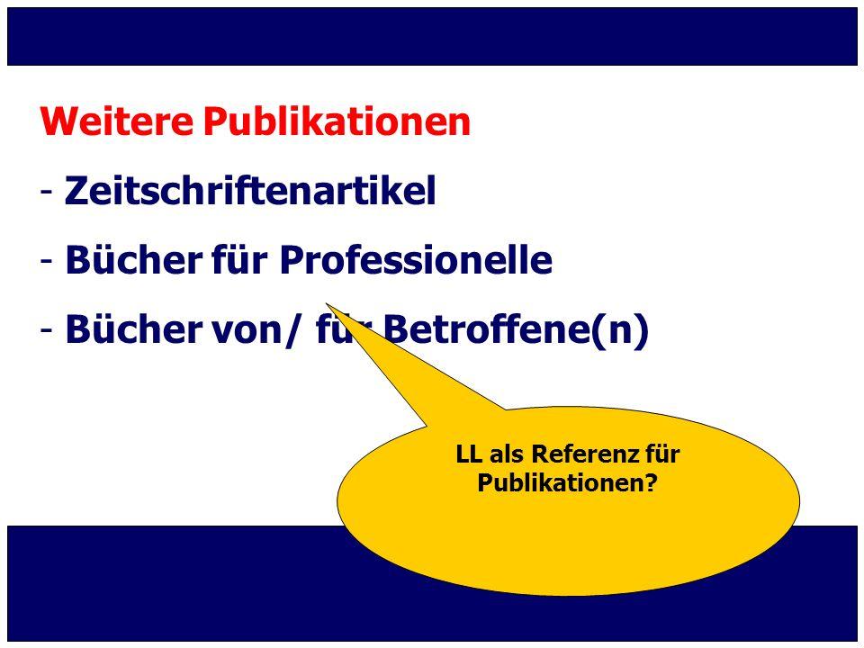 LL als Referenz für Publikationen