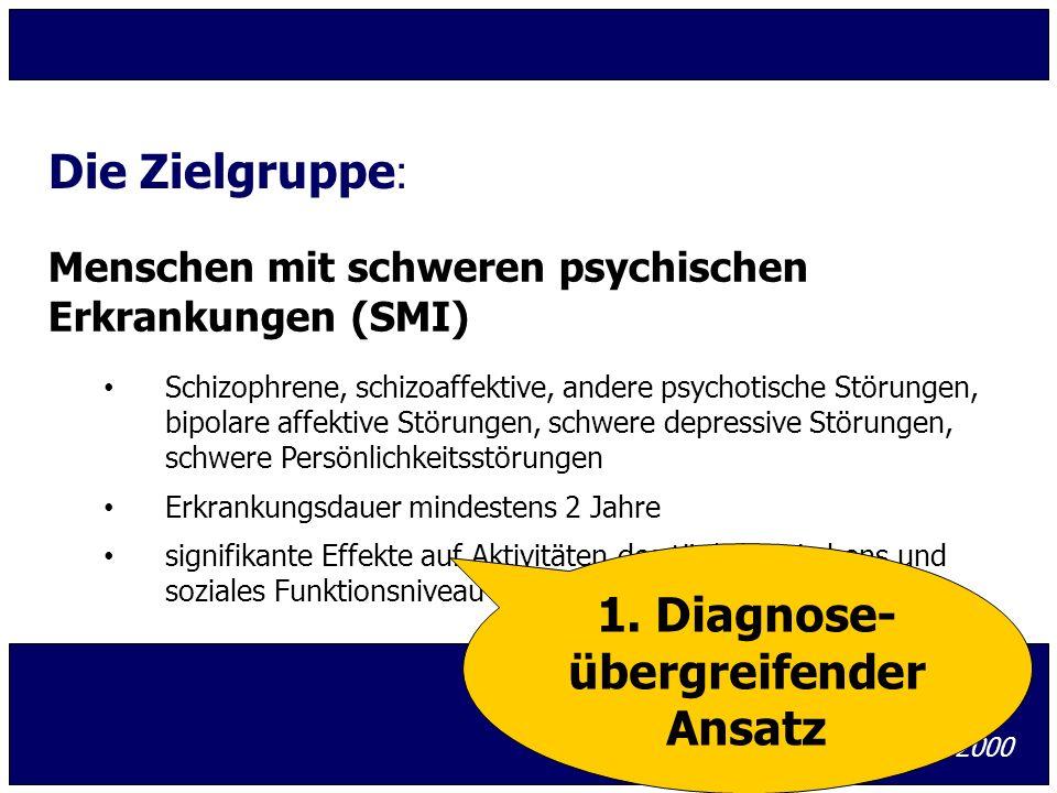 1. Diagnose- übergreifender Ansatz