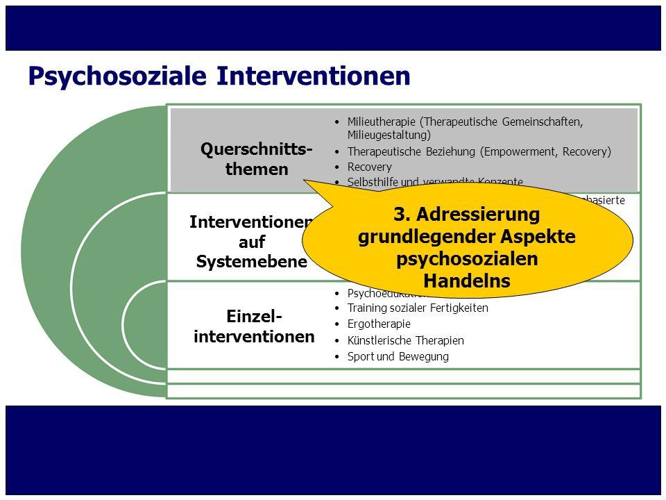 Psychosoziale Interventionen