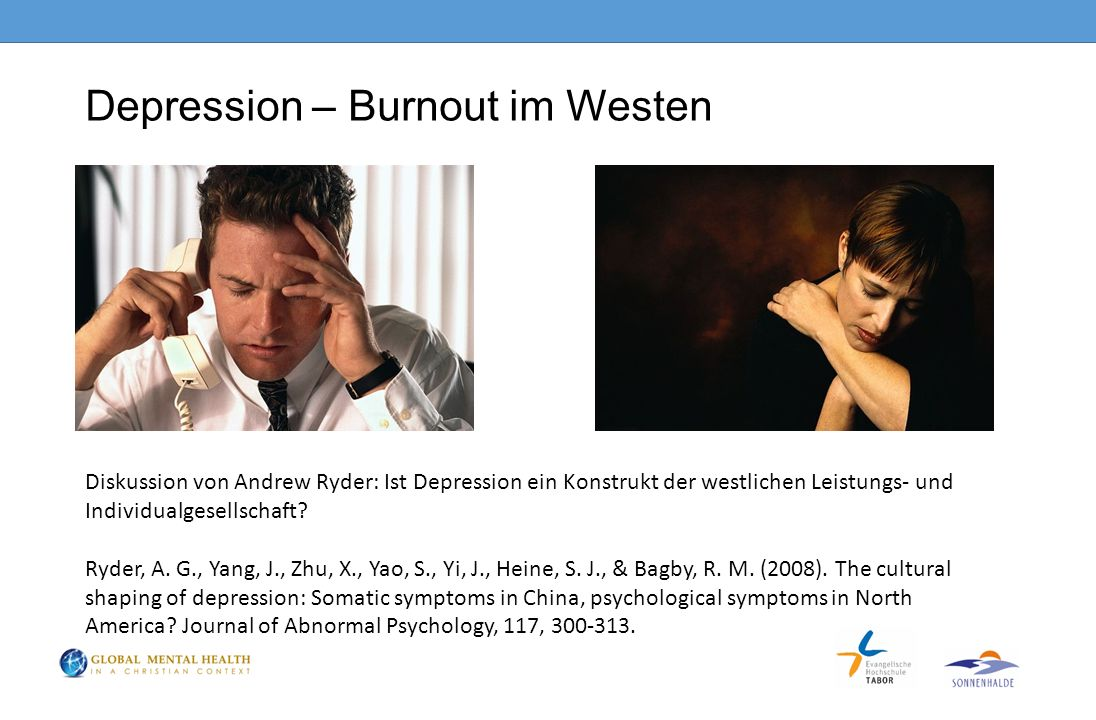 Depression – Burnout im Westen