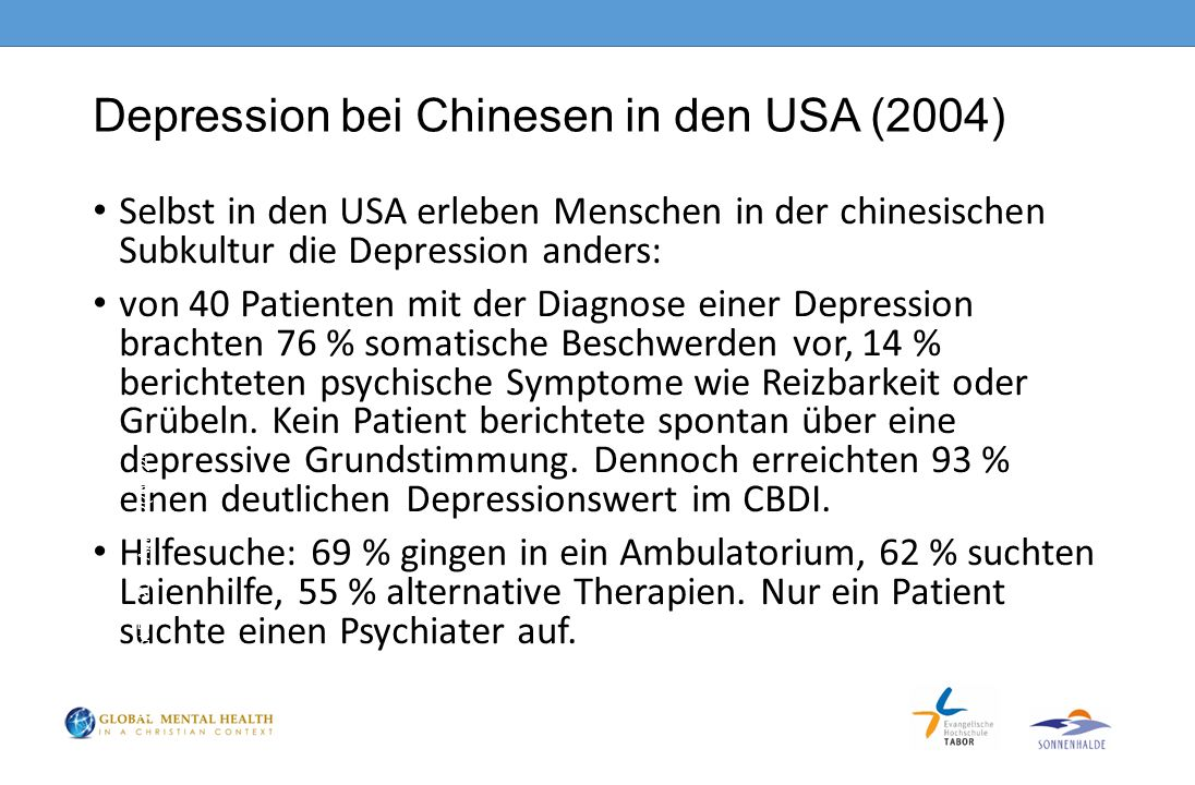Depression bei Chinesen in den USA (2004)