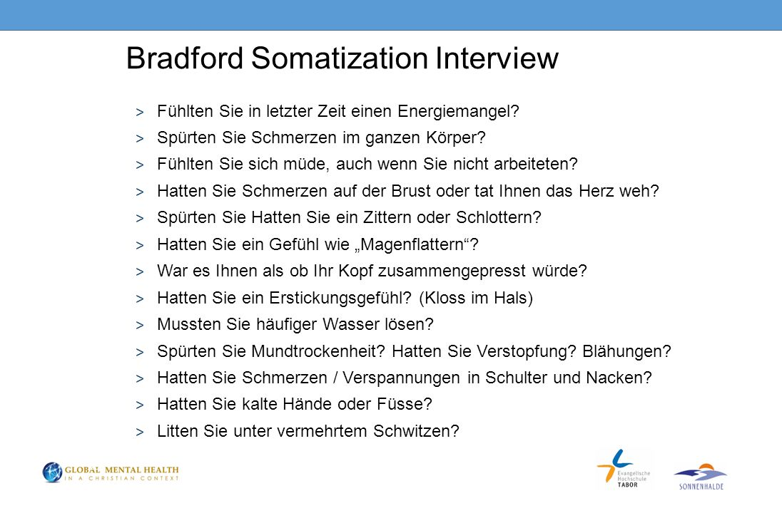 Bradford Somatization Interview