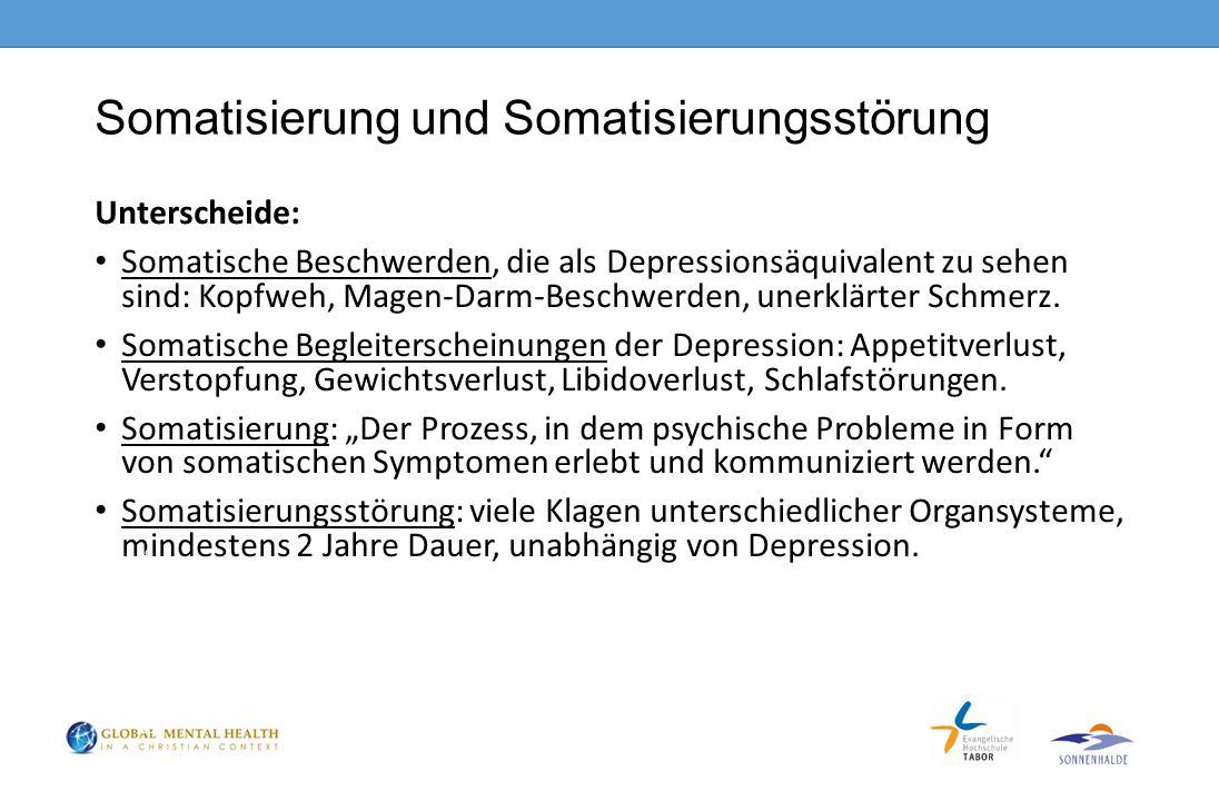 Somatisierung und Somatisierungsstörung