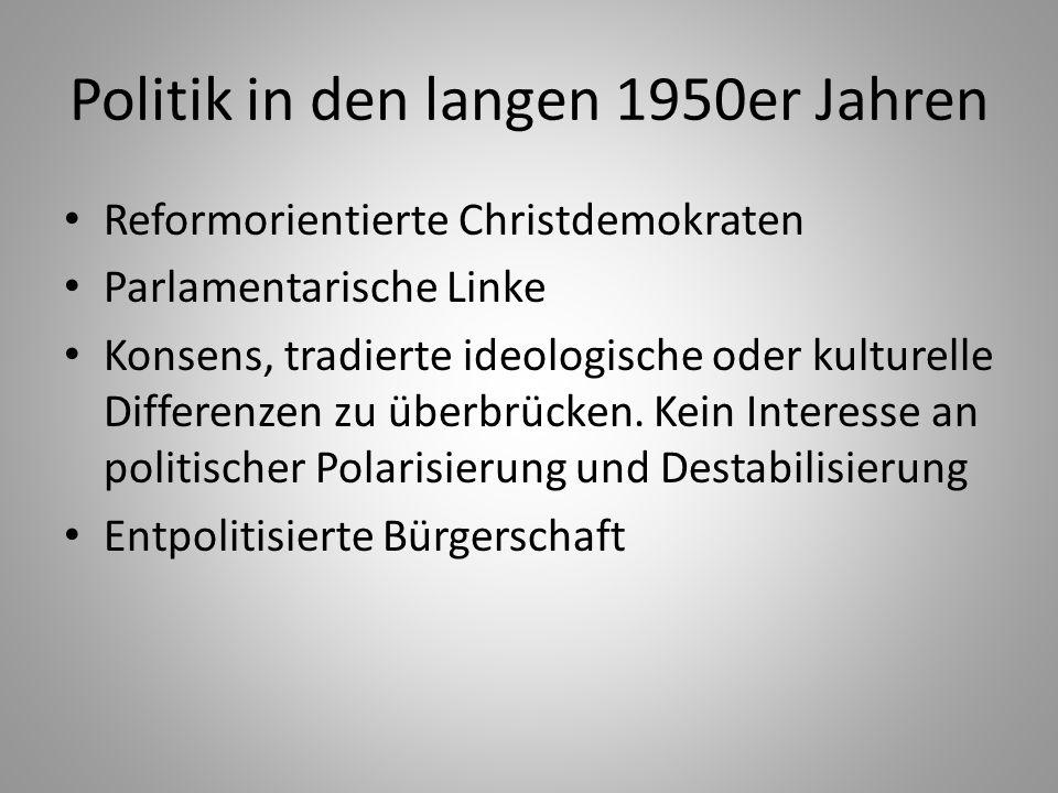 Politik in den langen 1950er Jahren
