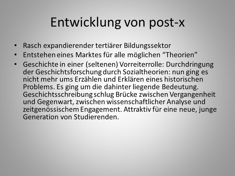 Entwicklung von post-x