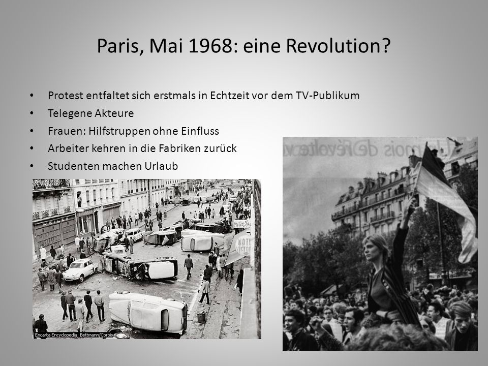 Paris, Mai 1968: eine Revolution