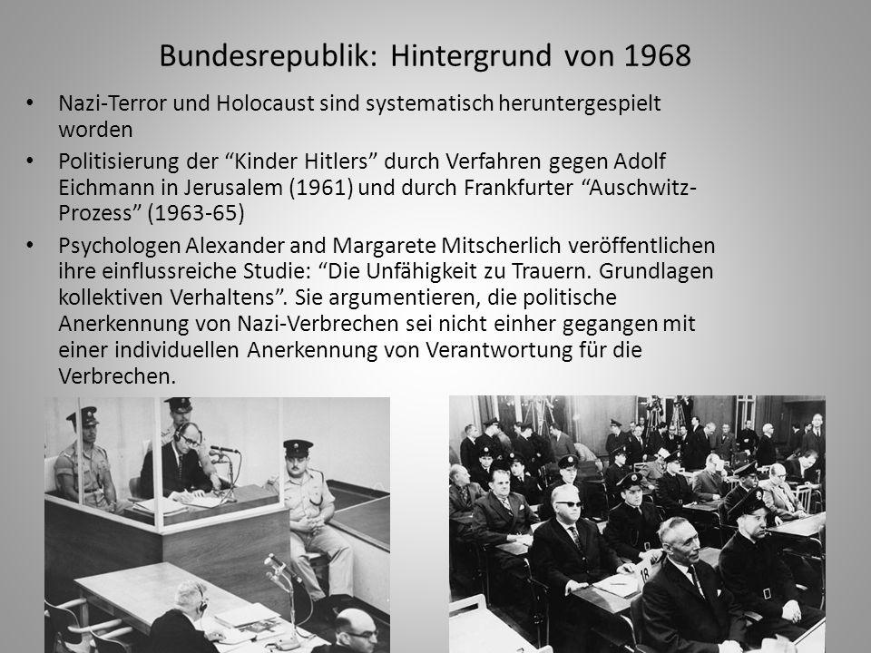 Bundesrepublik: Hintergrund von 1968