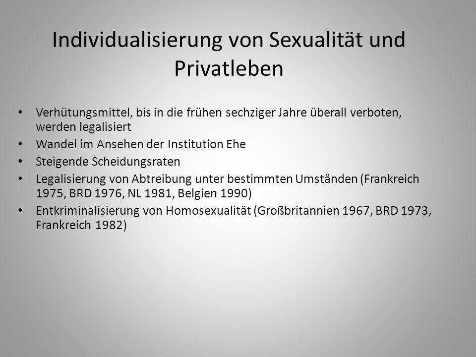Individualisierung von Sexualität und Privatleben