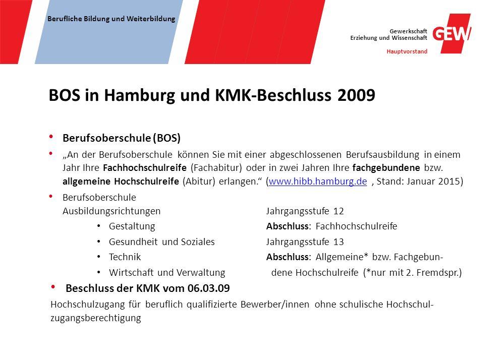 BOS in Hamburg und KMK-Beschluss 2009