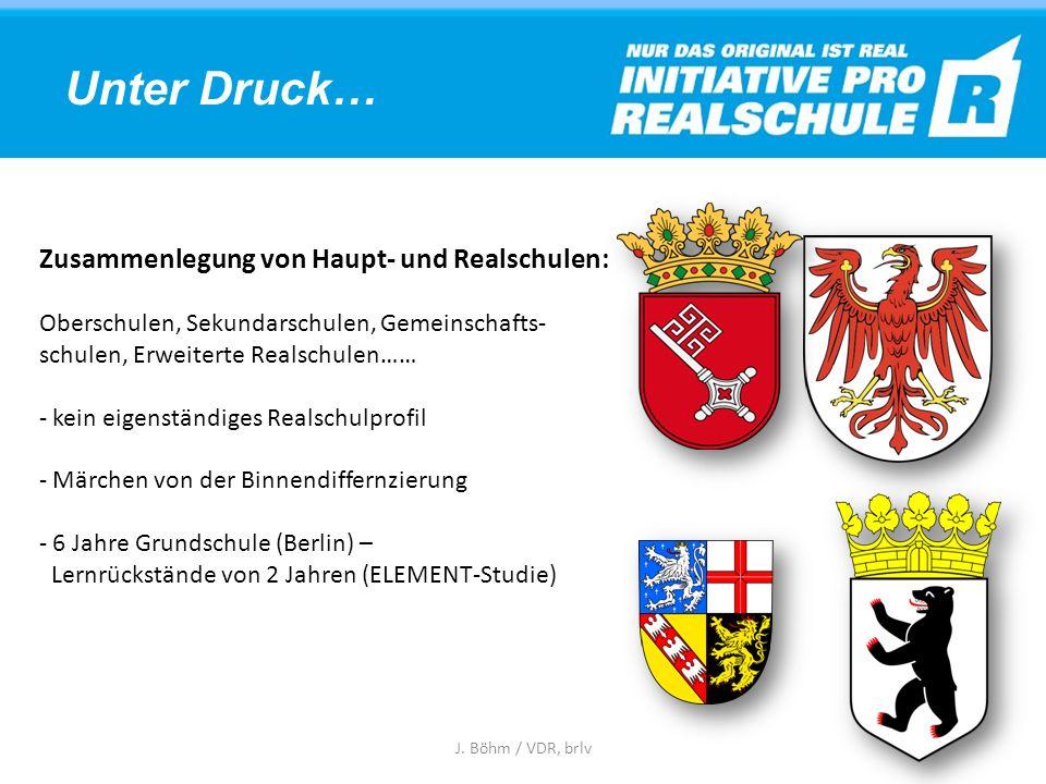 Unter Druck… Zusammenlegung von Haupt- und Realschulen: