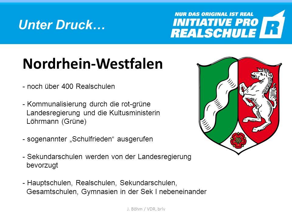 Nordrhein-Westfalen Unter Druck… noch über 400 Realschulen