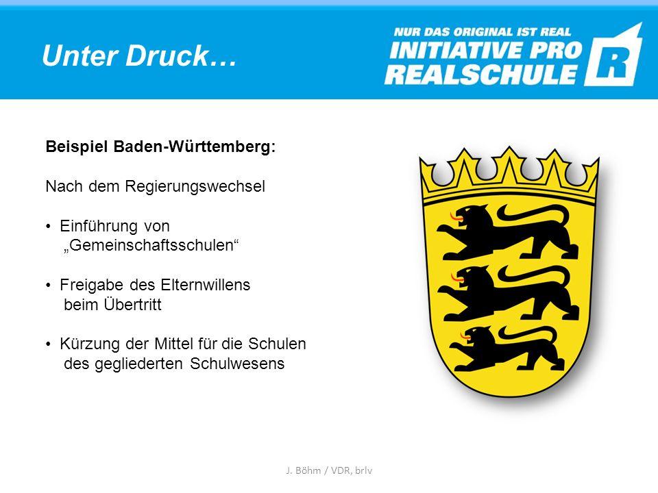 Unter Druck… Beispiel Baden-Württemberg: Nach dem Regierungswechsel