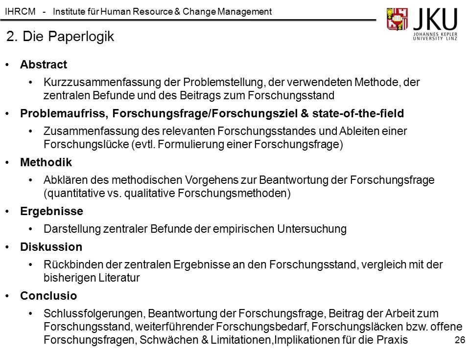 2. Die Paperlogik Abstract