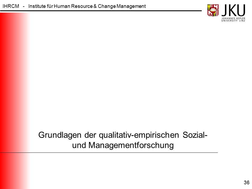 Grundlagen der qualitativ-empirischen Sozial- und Managementforschung