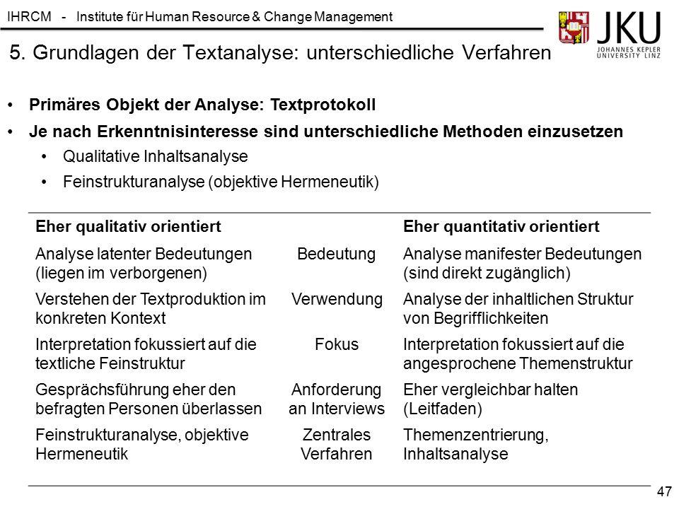 5. Grundlagen der Textanalyse: unterschiedliche Verfahren