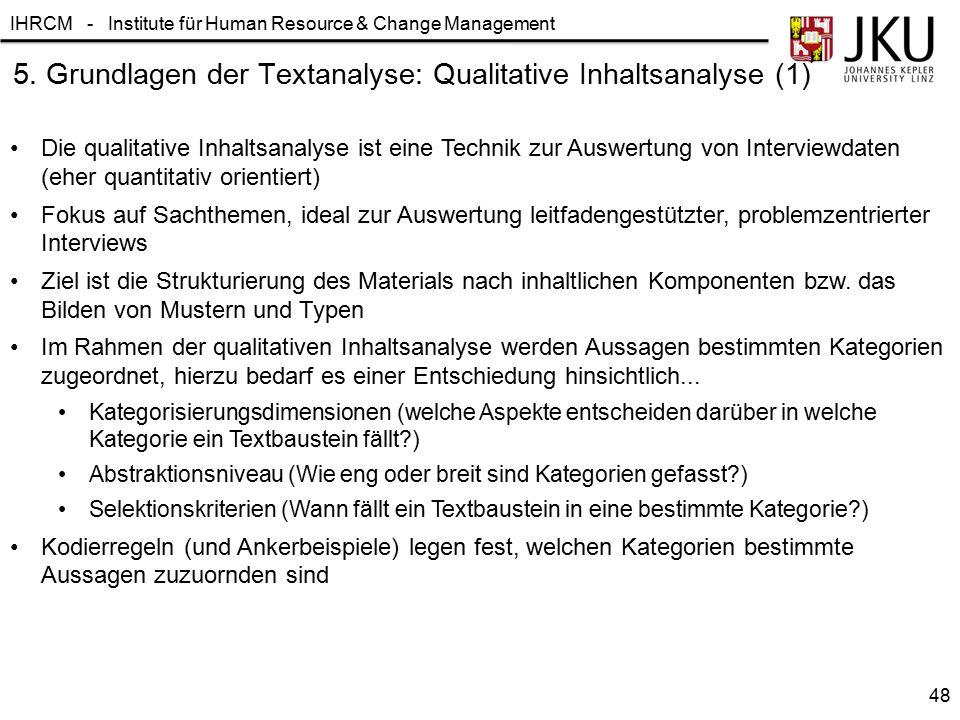 5. Grundlagen der Textanalyse: Qualitative Inhaltsanalyse (1)
