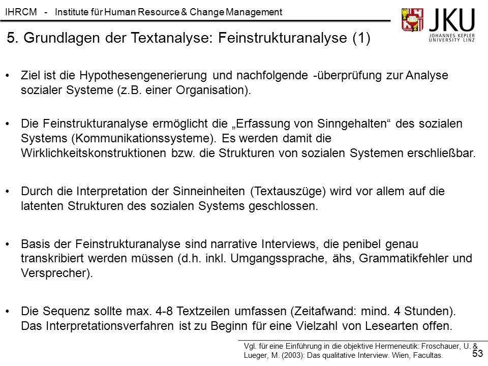 5. Grundlagen der Textanalyse: Feinstrukturanalyse (1)