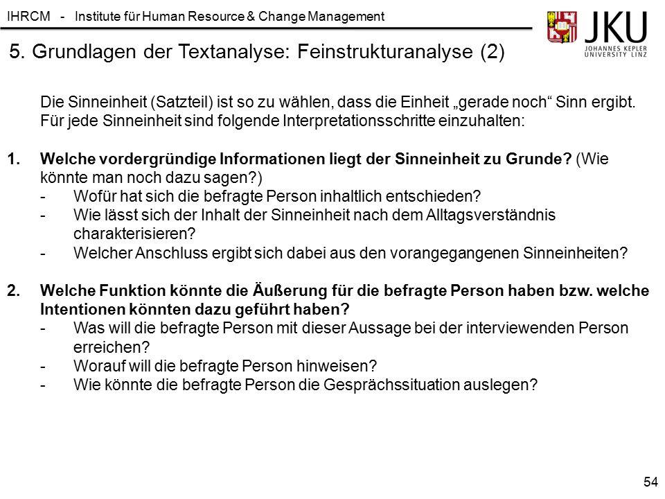 5. Grundlagen der Textanalyse: Feinstrukturanalyse (2)