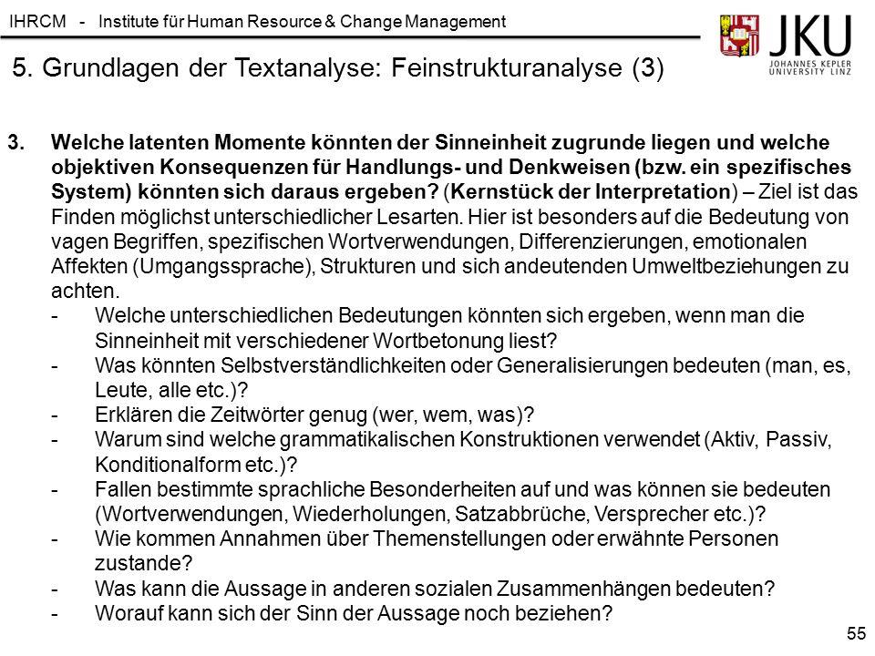 5. Grundlagen der Textanalyse: Feinstrukturanalyse (3)