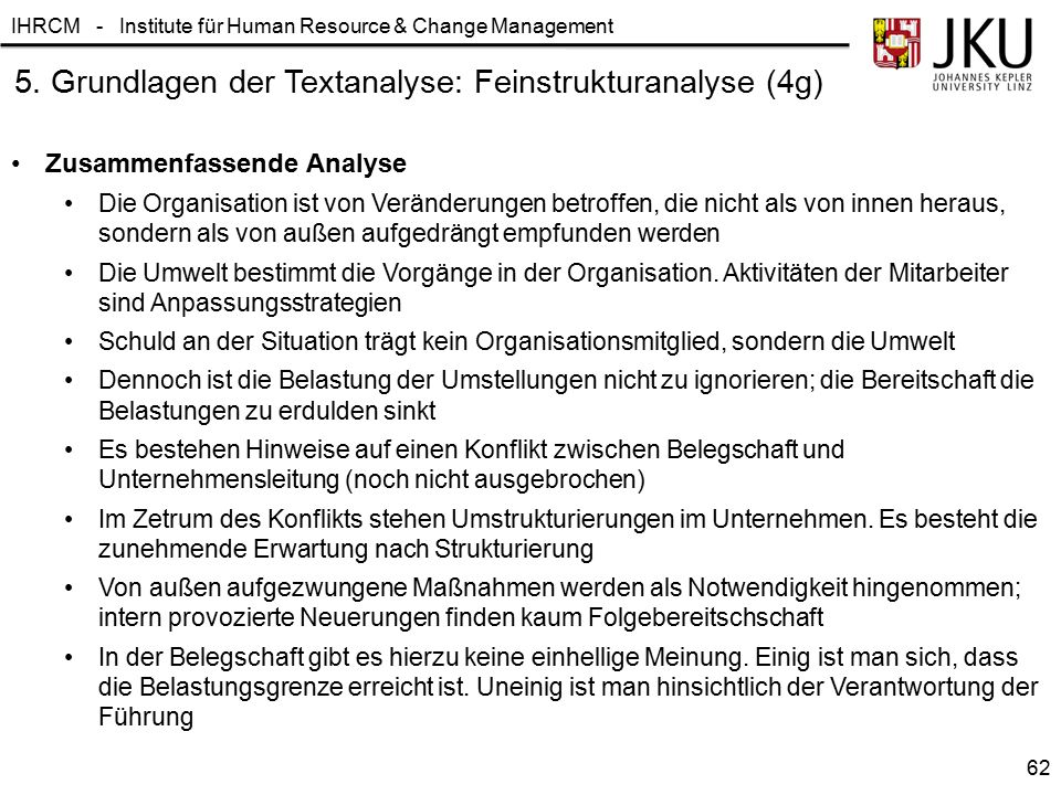 5. Grundlagen der Textanalyse: Feinstrukturanalyse (4g)
