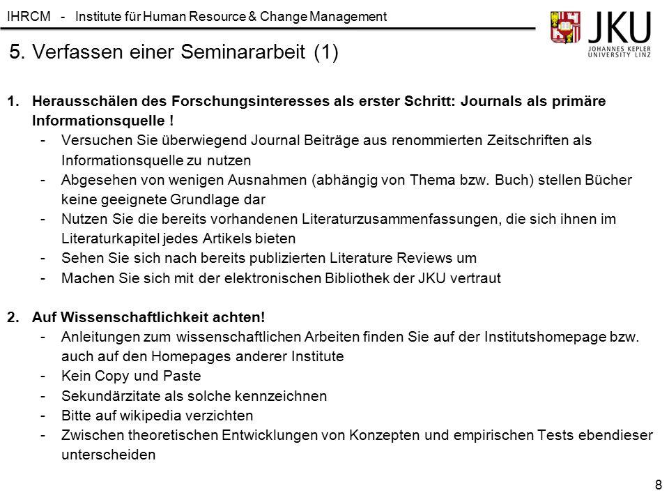 5. Verfassen einer Seminararbeit (1)
