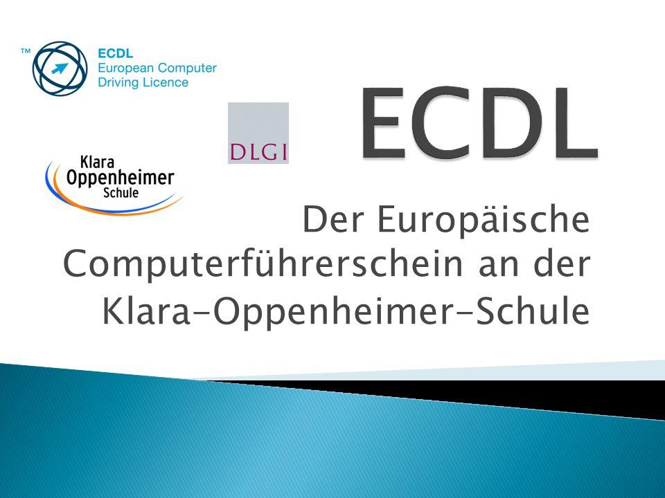 Der Europäische Computerführerschein an der Klara-Oppenheimer-Schule