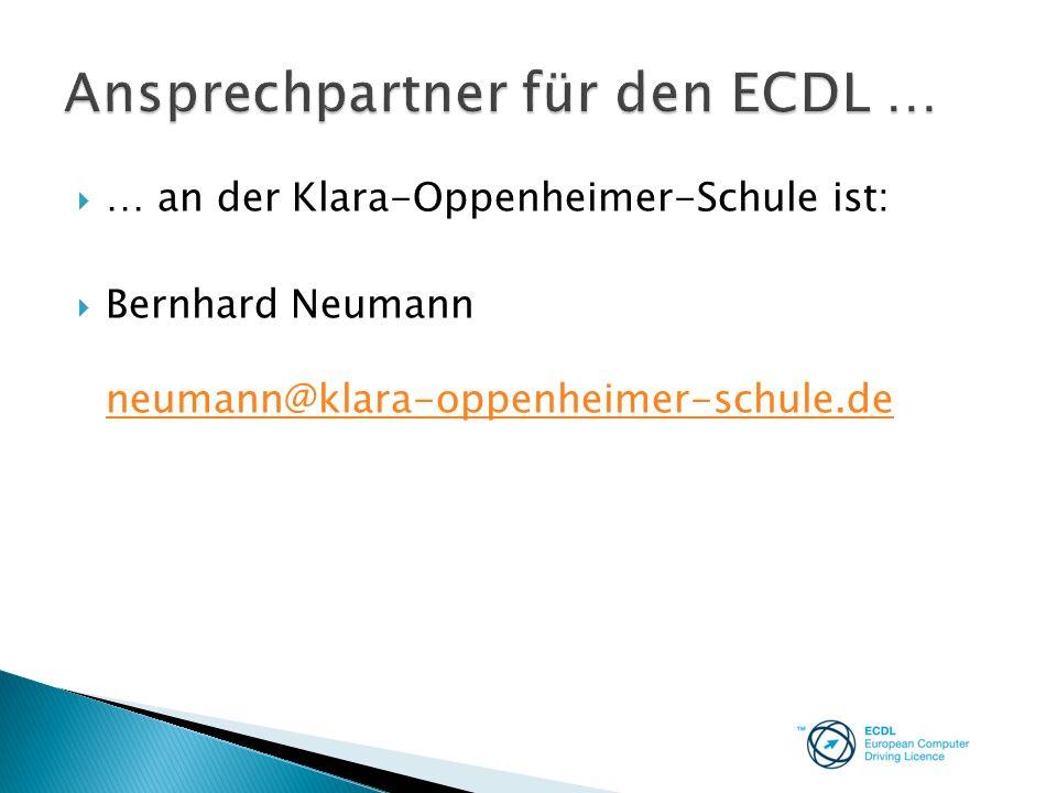 Ansprechpartner für den ECDL …