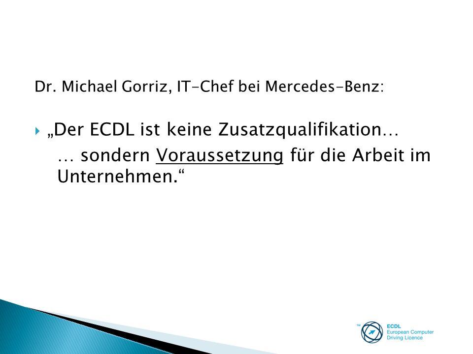 """""""Der ECDL ist keine Zusatzqualifikation…"""