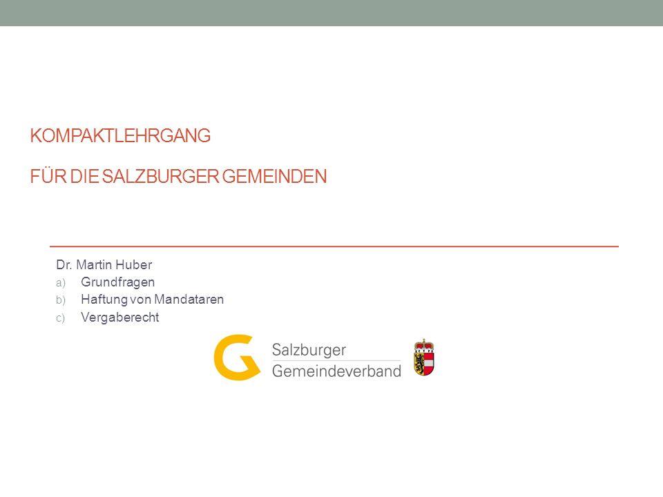 Kompaktlehrgang für die Salzburger Gemeinden