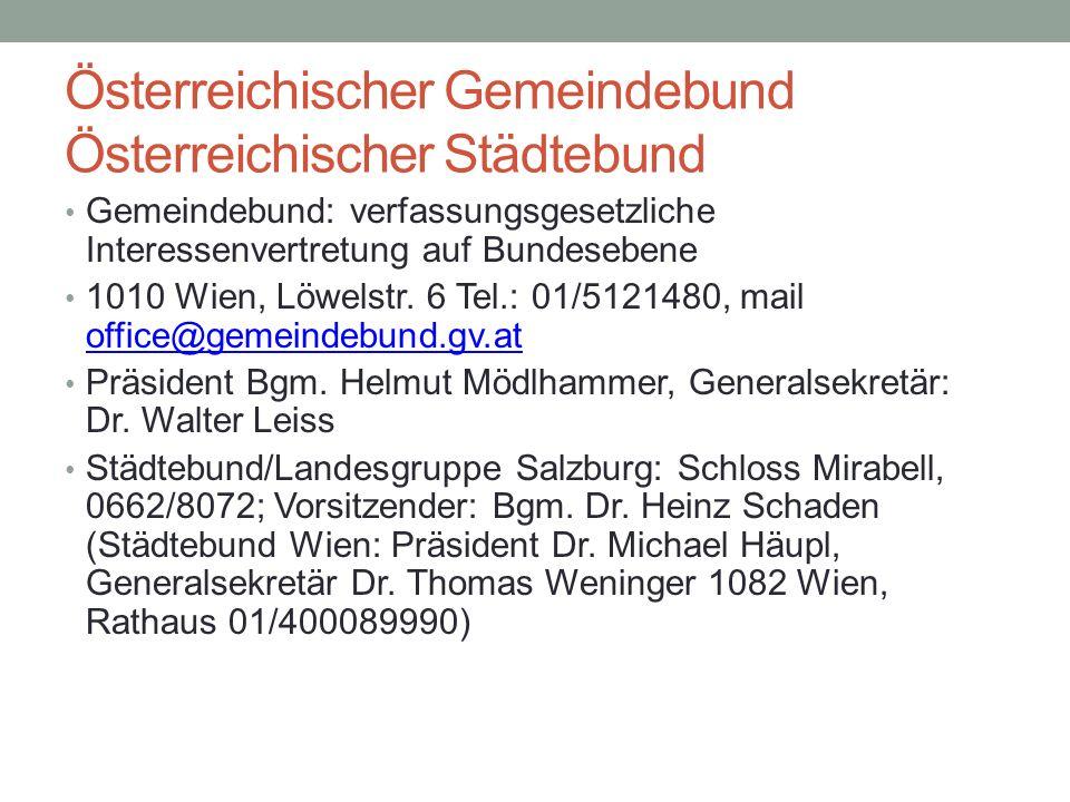 Österreichischer Gemeindebund Österreichischer Städtebund