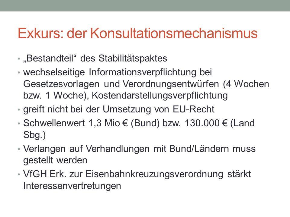 Exkurs: der Konsultationsmechanismus
