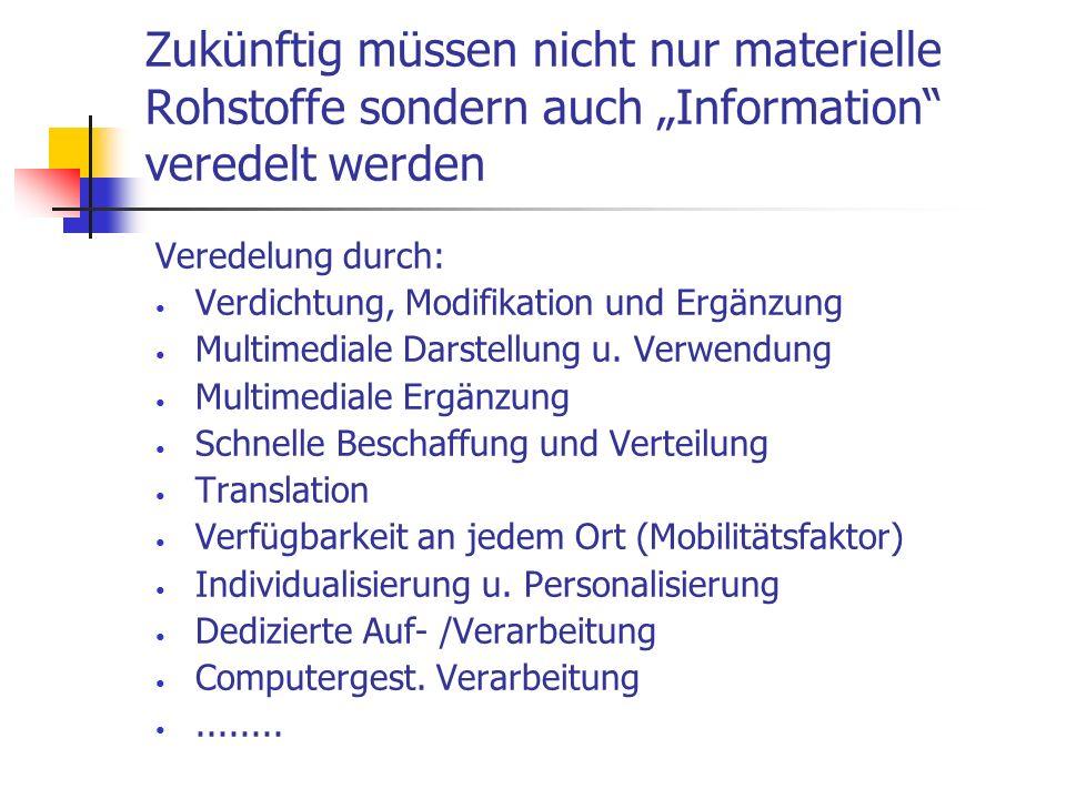 """Zukünftig müssen nicht nur materielle Rohstoffe sondern auch """"Information veredelt werden"""