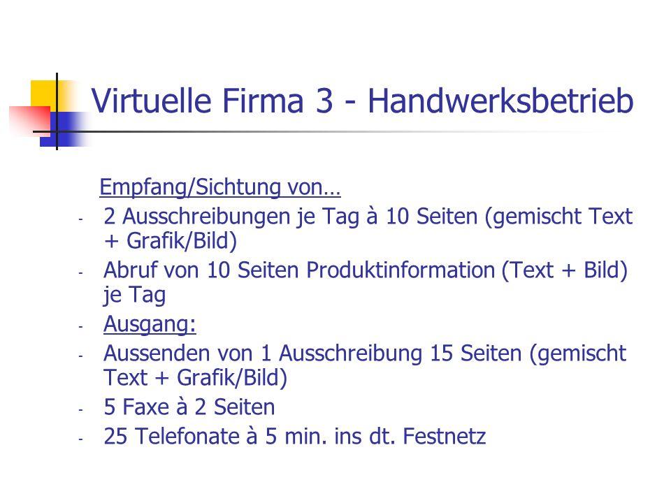 Virtuelle Firma 3 - Handwerksbetrieb