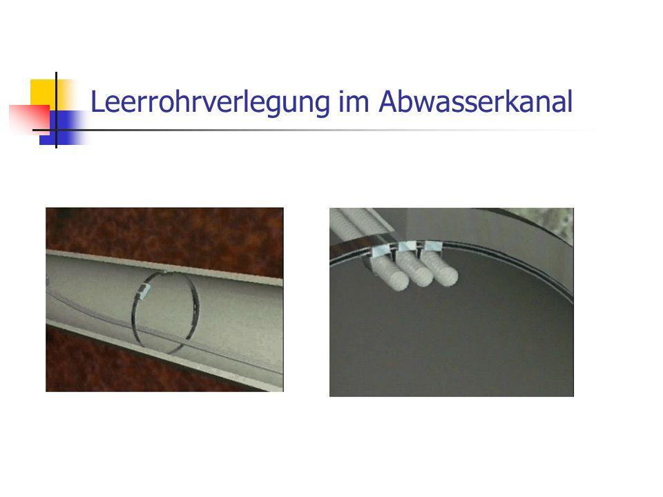 Leerrohrverlegung im Abwasserkanal