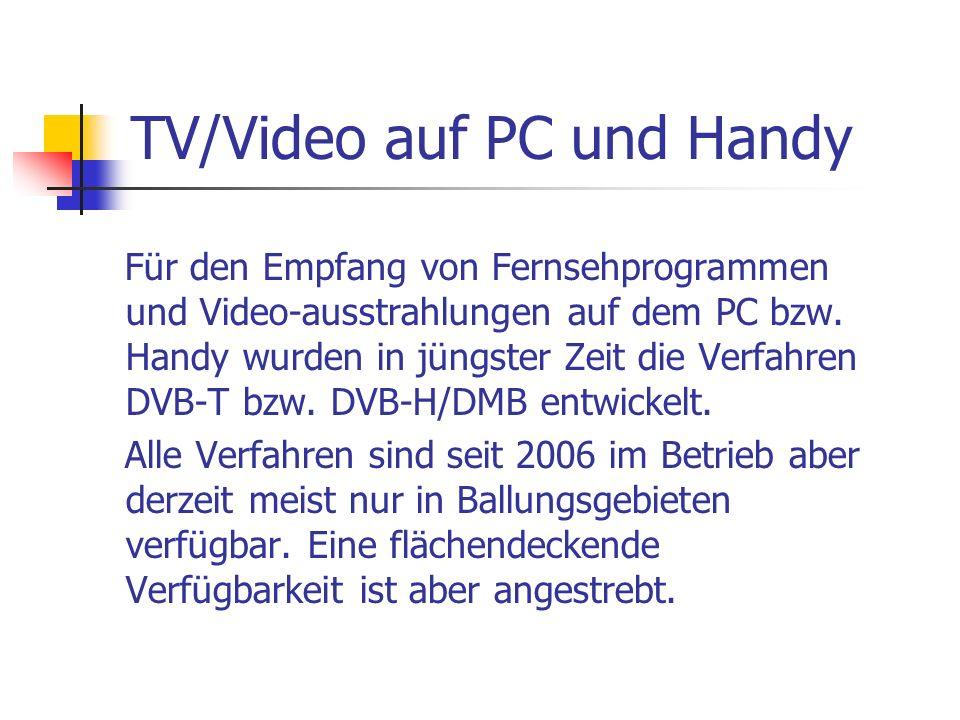 TV/Video auf PC und Handy
