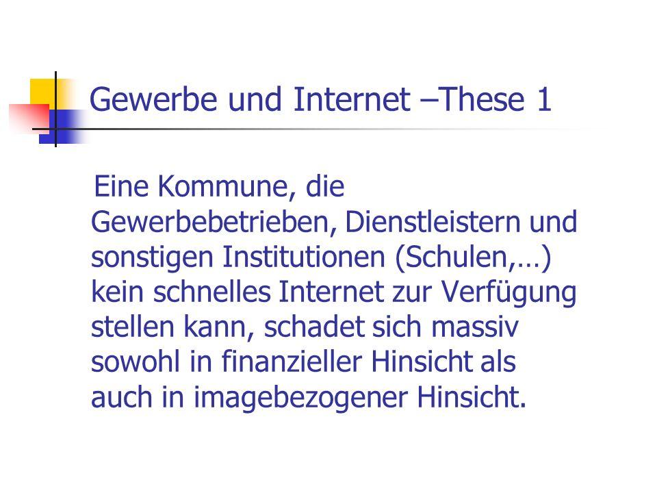 Gewerbe und Internet –These 1