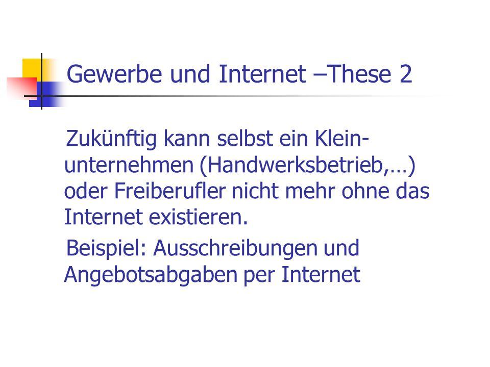 Gewerbe und Internet –These 2