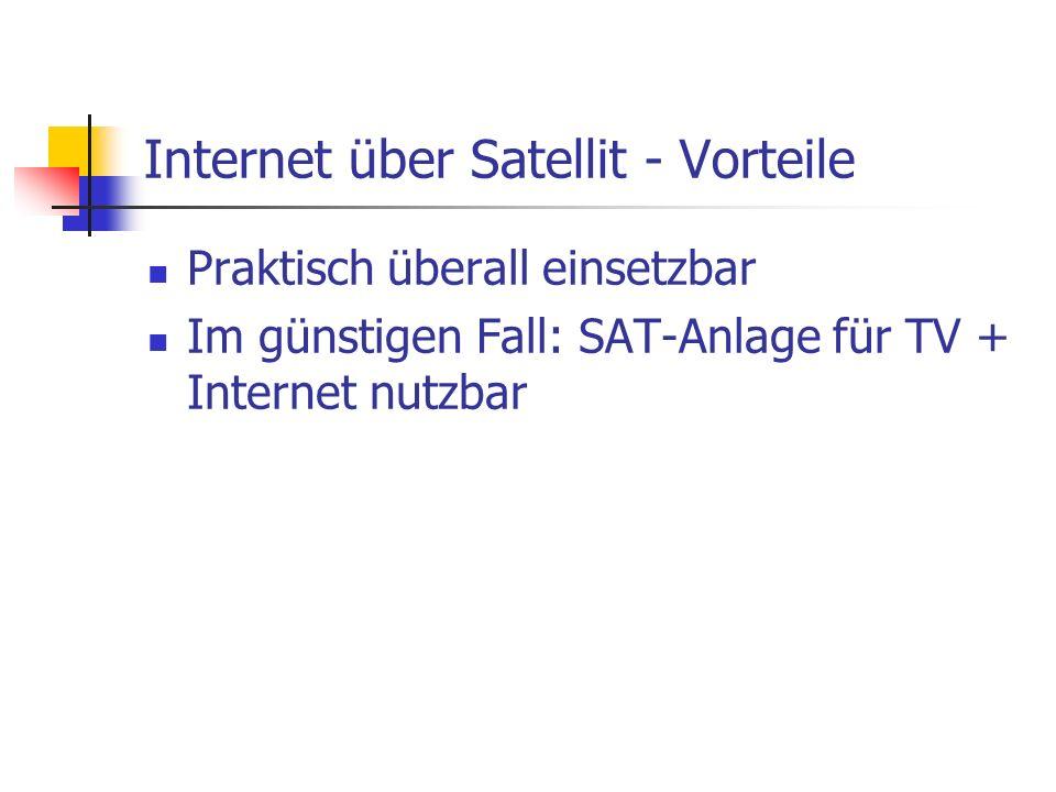 Internet über Satellit - Vorteile