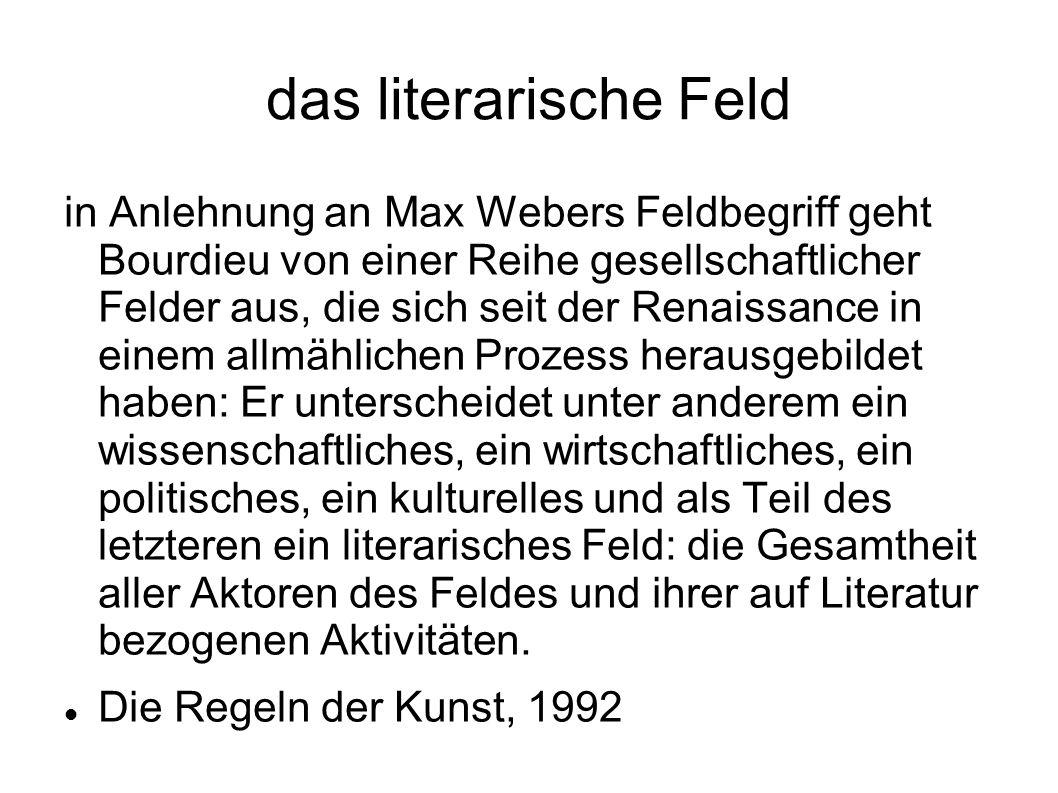 das literarische Feld