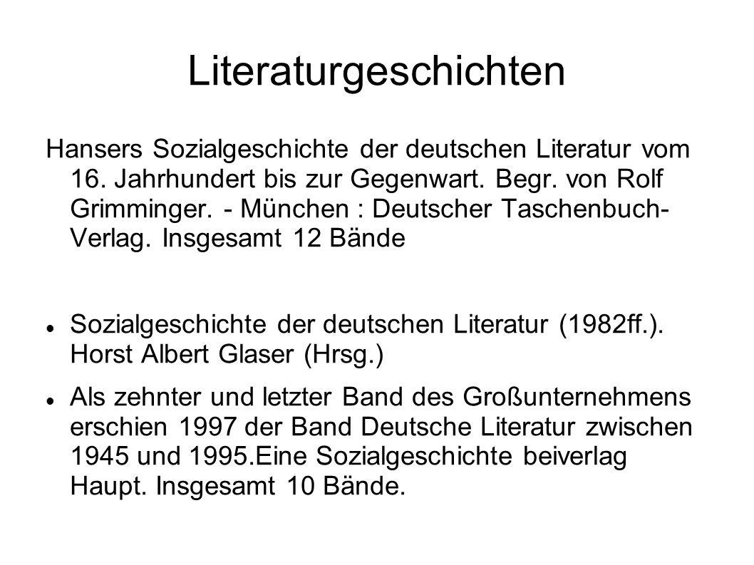 Literaturgeschichten