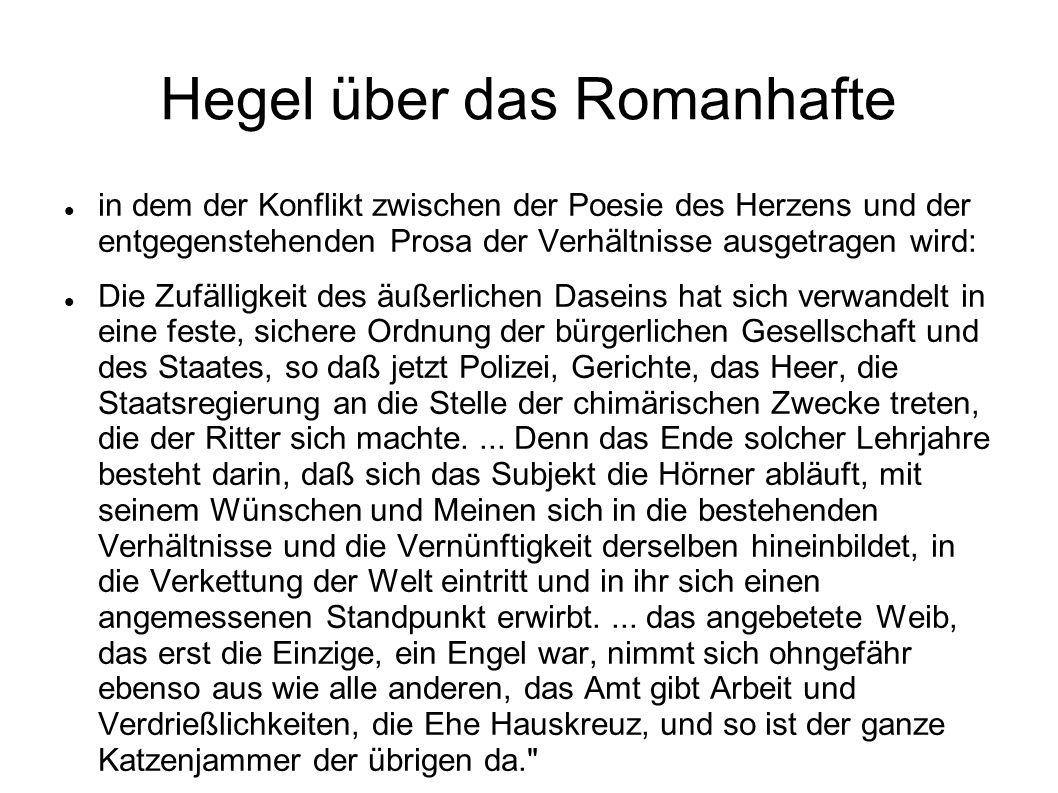 Hegel über das Romanhafte