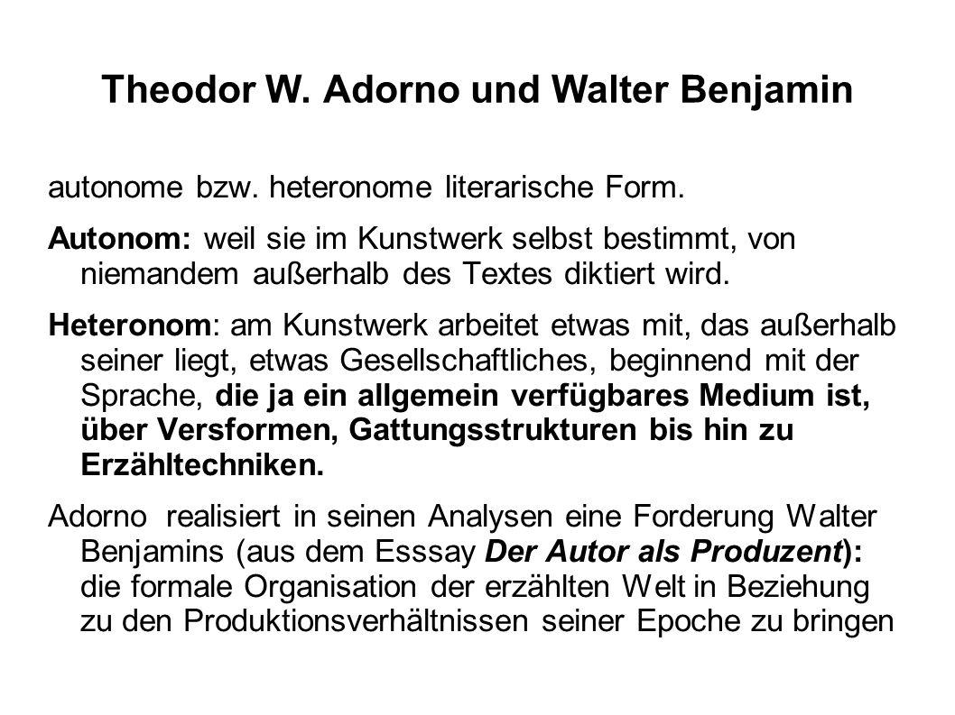 Theodor W. Adorno und Walter Benjamin